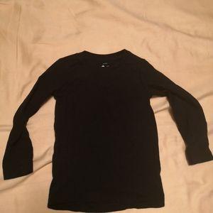 Primary black long sleeved tee shirt